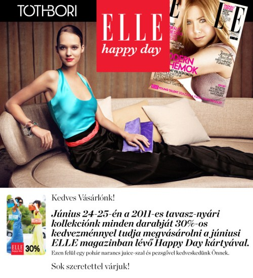 ELLE happy day napok a TOTHBORI-nál